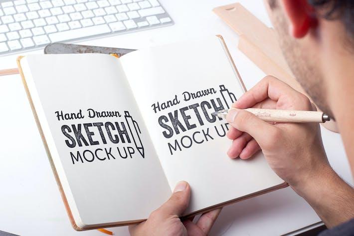 Thumbnail for Sketch Et Dessin Mockup Modèle #4