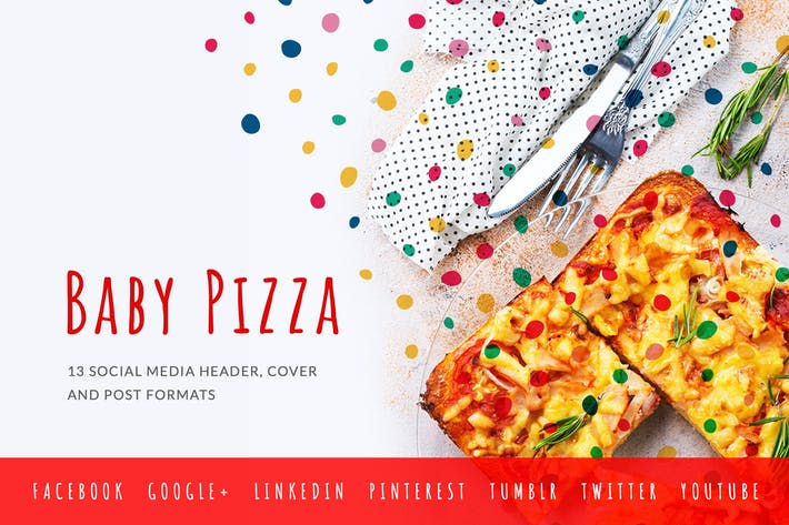 Thumbnail for Baby Pizzeria – Social Media Kit