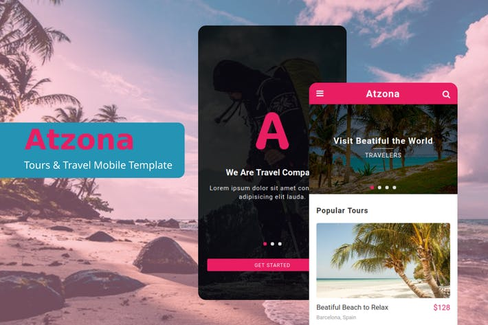 Thumbnail for Atzona - Tours & Travel Mobile Template