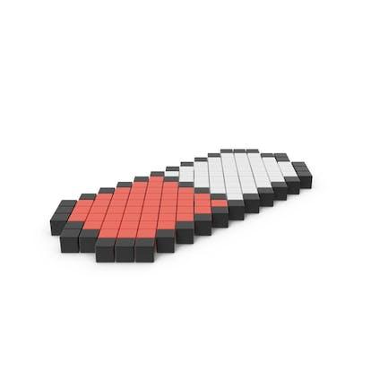 Icono de píldora pixelada