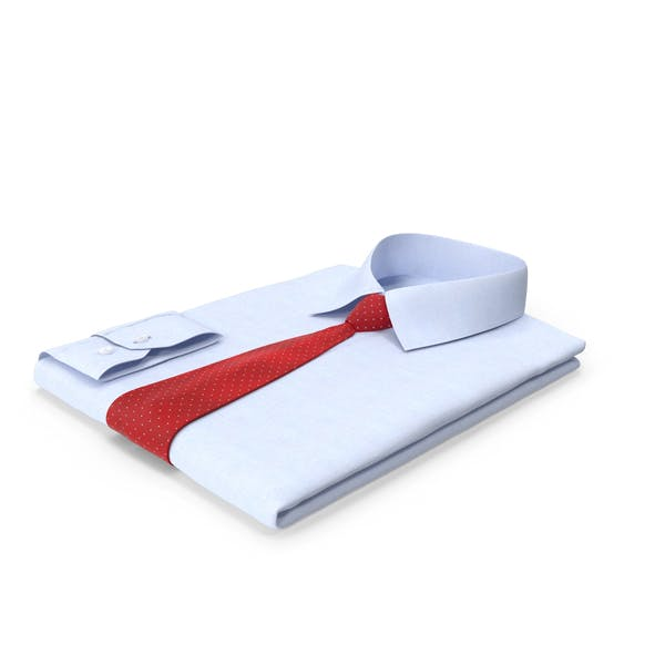 Folded Shirt With Tie