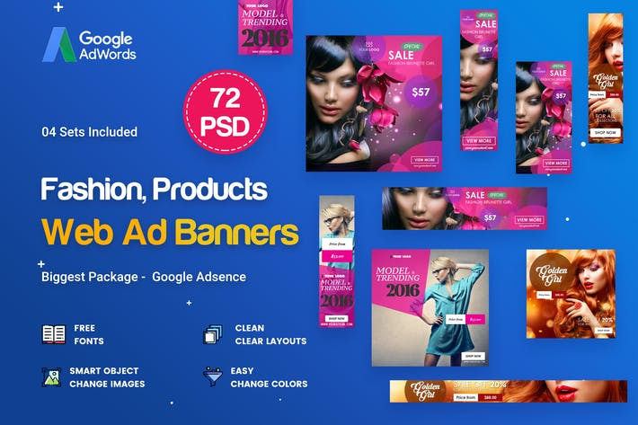 Cover Image For Fashion Banner Ad - 72 PSD [04 Sets]