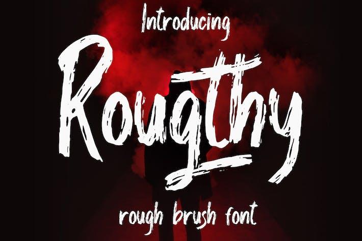Thumbnail for Rougthy Brush Font