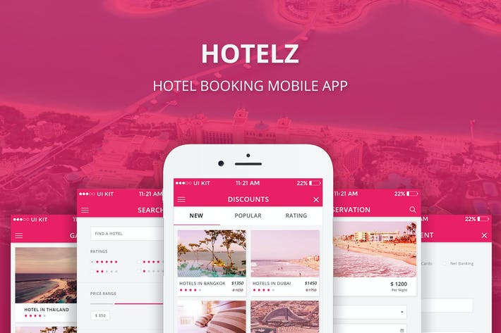 Thumbnail for Hotelz - Hotel Booking APP (PSD)