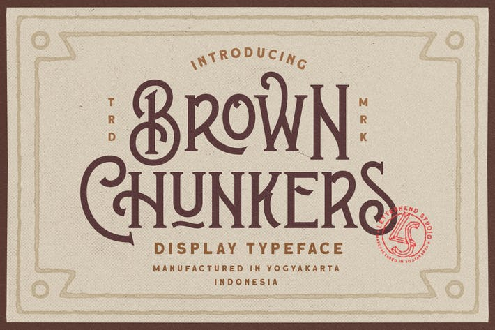Thumbnail for Brown Chunkers - Display Typeface