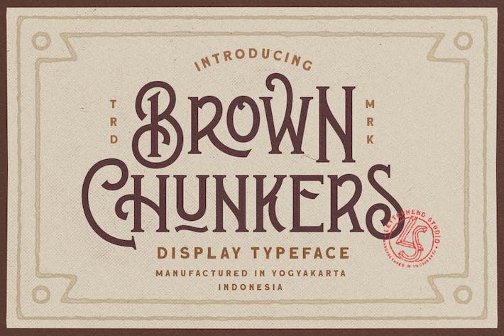 Thumbnail for Brown Chunkers - Tipo de letra de pantalla