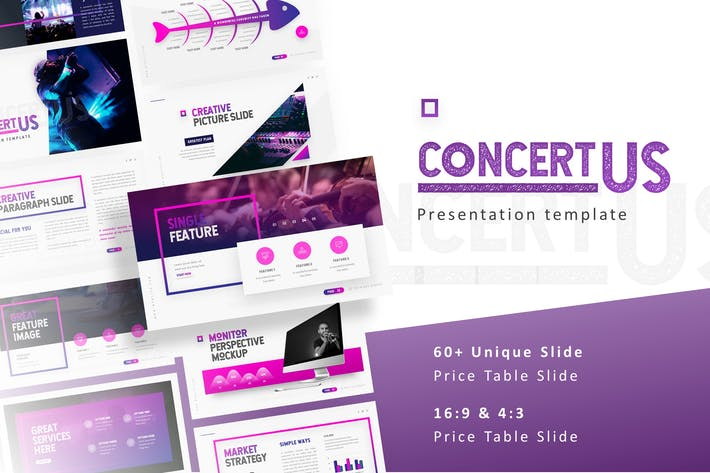 Thumbnail for Concertus - Event Powerpoint Template