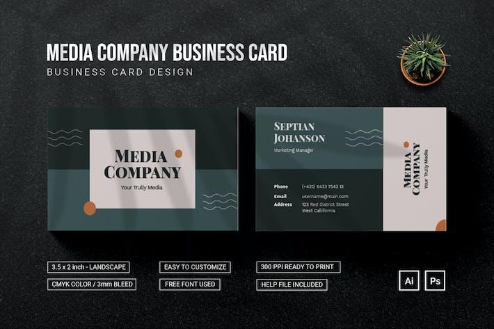Media Company - Bussiness Card