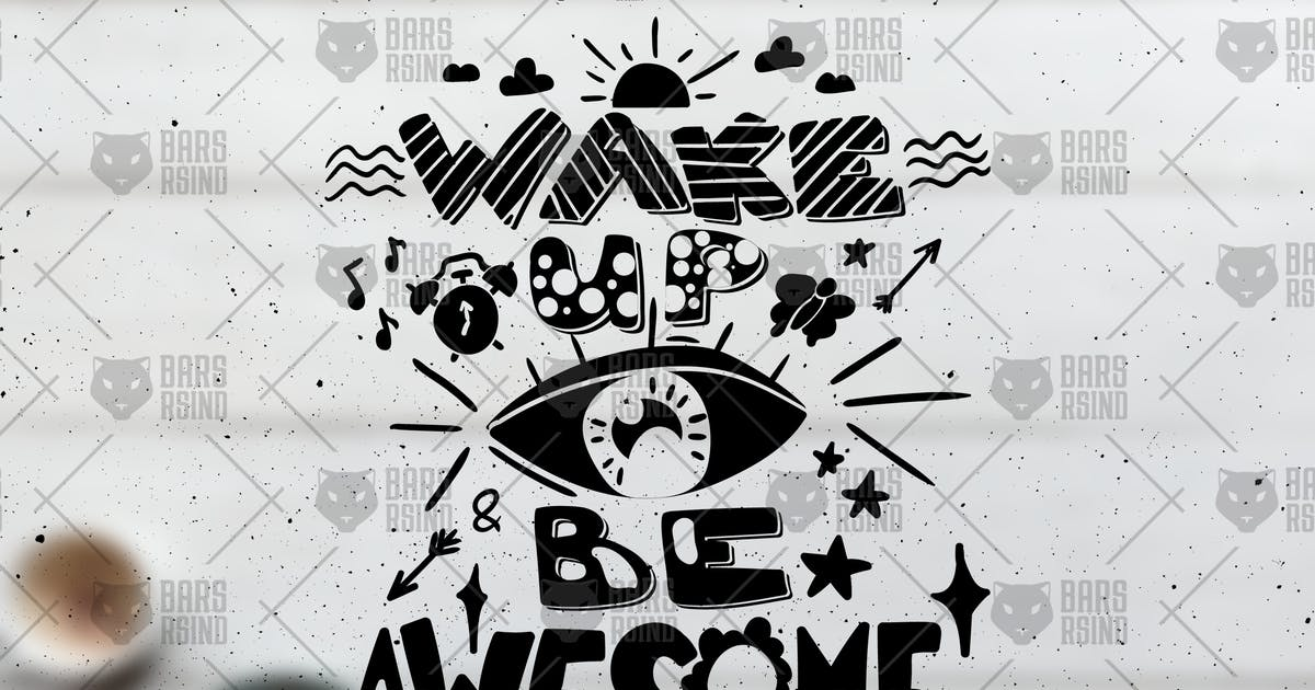 Motivational Overlay - Wake Up And Be Awesome by barsrsind