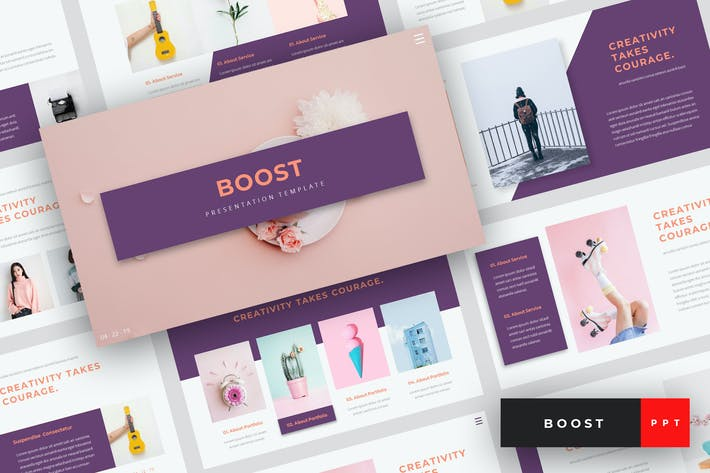 Thumbnail for Boost - Creative PowerPoint Template