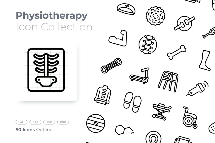 Physiotherapy Outline Icon