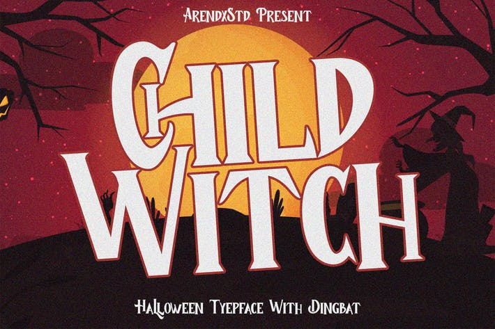 Thumbnail for Child Witch - Halloween Typeface