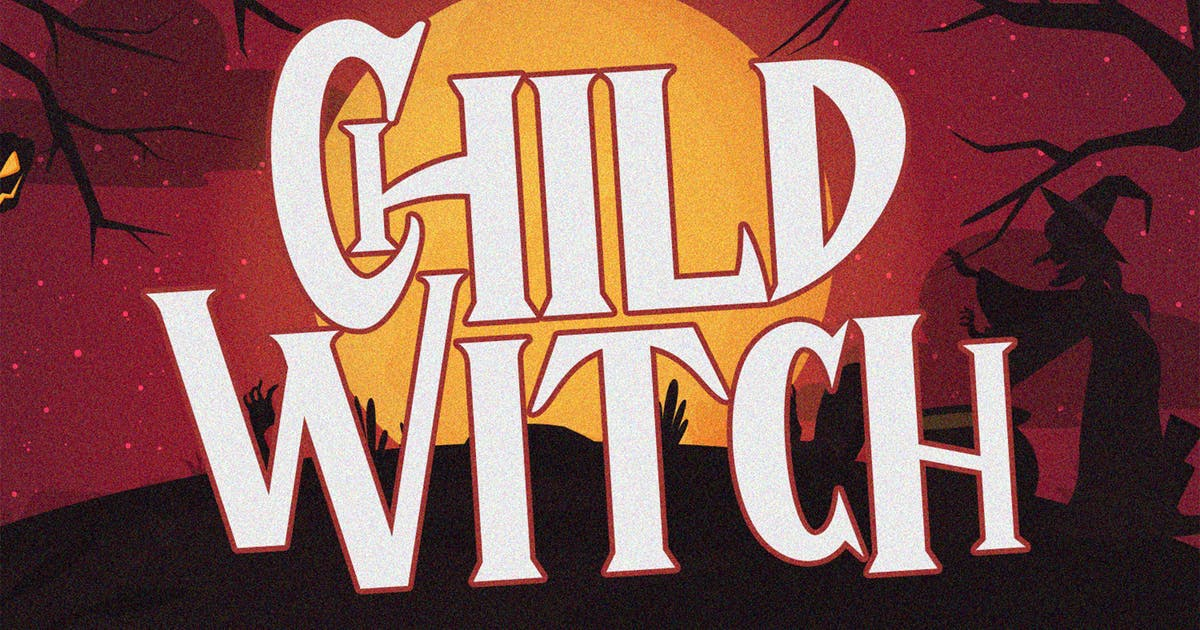 Download Child Witch - Halloween Typeface by arendxstudio