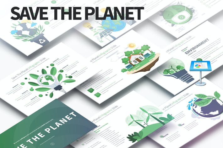 Thumbnail for Save The Planet - Keynote Infographics Slides