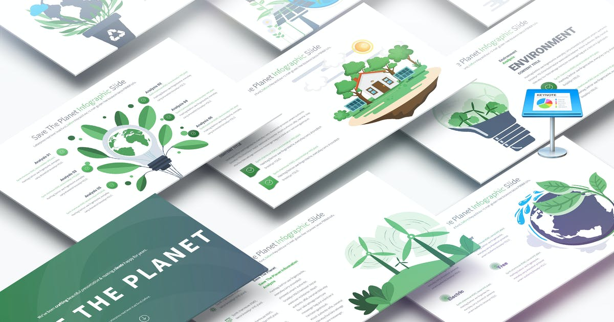 Download Save The Planet - Keynote Infographics Slides by pulsecolor