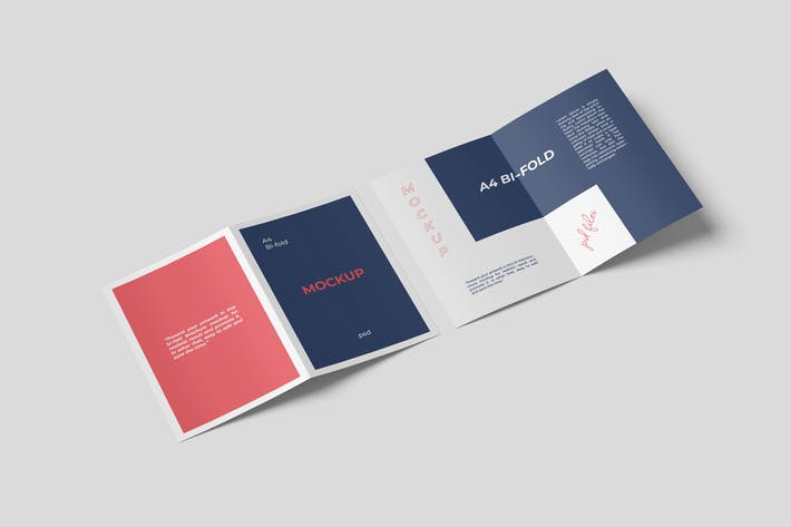 Thumbnail for A4 Bifold Broschüre Mock-ups Set