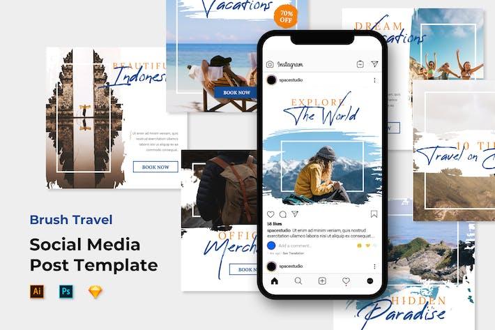 Thumbnail for Instagram Post Feed Templates - Brush Travel