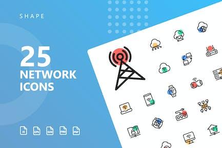 Network Shape Icons