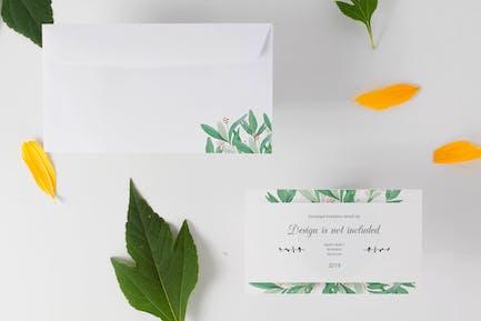 Envelope and Invitation Mock Up
