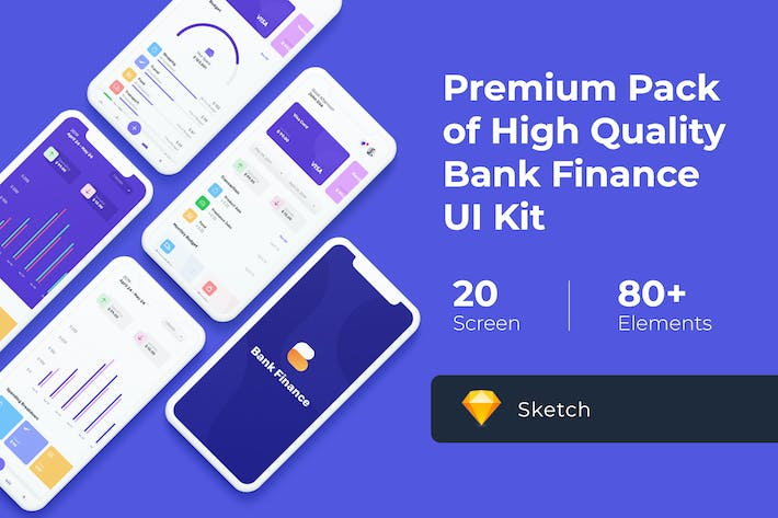 Thumbnail for Bank Finance UI KIT for Sketch