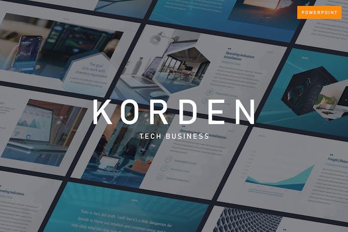 Thumbnail for KORDEN - Tech Business Powerpoint Template