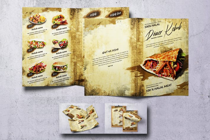 Thumbnail for Doner Kebab Vintage Food Menu Bundle