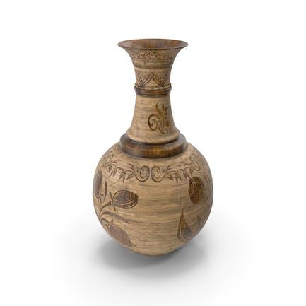 Vase Pot Wooden Design