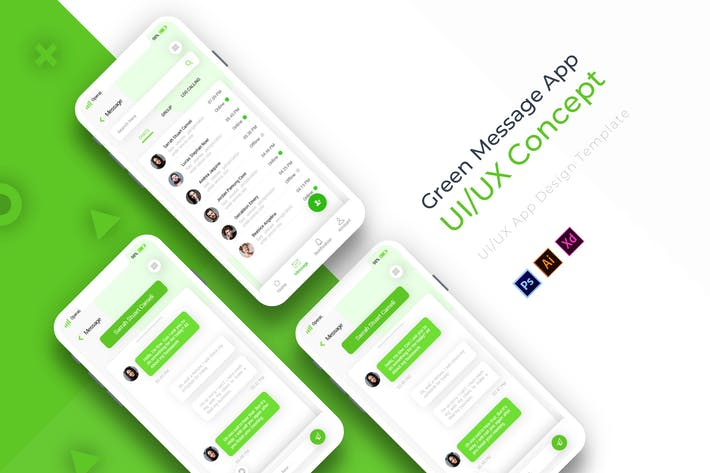 Thumbnail for Green Message Page | App Template