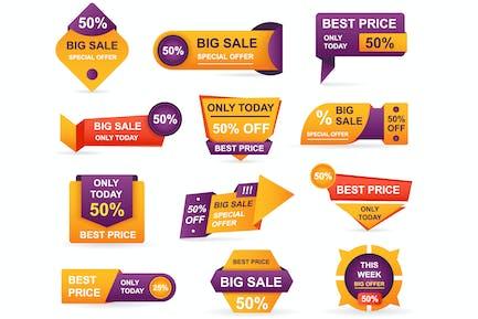 Retail Sale Tags Sticker Best Offer