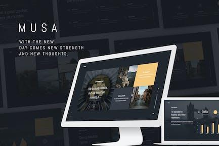 MUSA - Minimal & Creative Template (KEY)