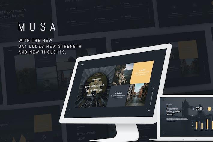 Thumbnail for MUSA - Минимальный и креативный Шаблон (KEY)
