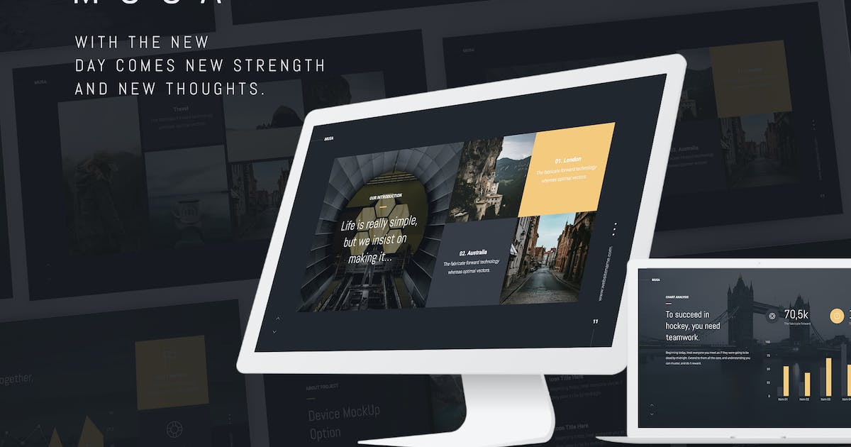 Download MUSA - Minimal & Creative Template (KEY) by SimpleSmart