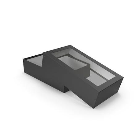 Caja abierta negra