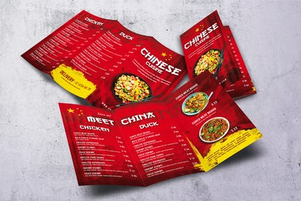 Chinese Cuizine Trifold A4 & US Letter Menu