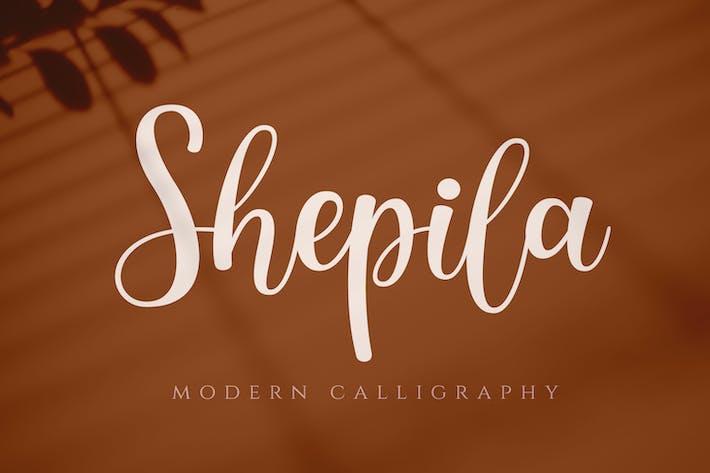 Thumbnail for Shepila - Pretty Script Font