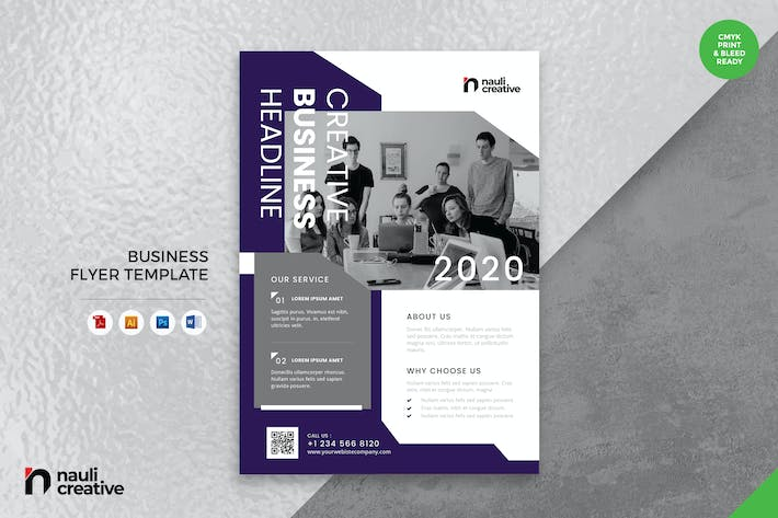 Thumbnail for Corporate Business Flyer AI, DOC, & PSD Vol.17