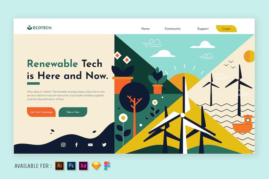 Renewable Technology - Web Illustration