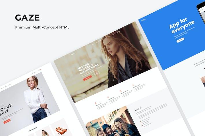 Cover Image For Gaze - Premium Multipurpose HTML Package