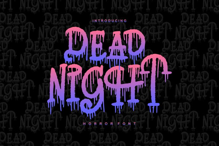 Thumbnail for Dead Night | Horror Font