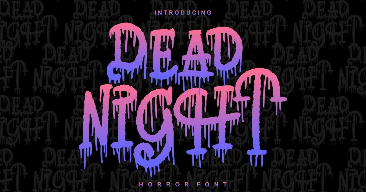 Download Dead Night | Horror Font by Vunira