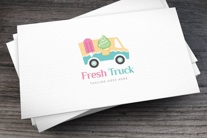 Cover Image For Ice Cream Truck Logo Template