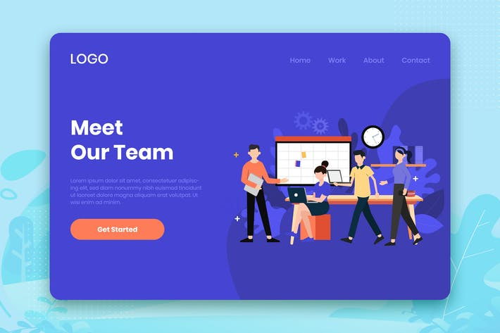 Thumbnail for Meet our team landing page template