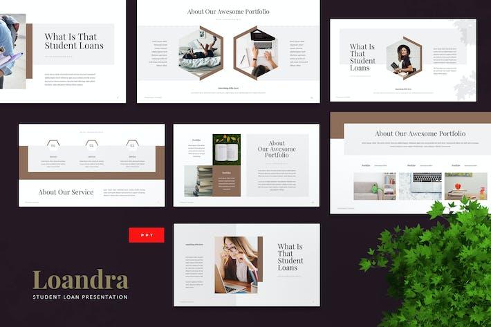 Thumbnail for Loandra - Шаблон Powerpoint студенческого кредита