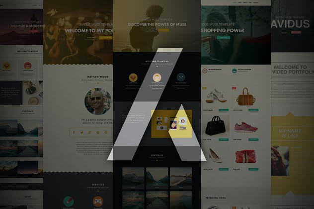 Avidus - Multipurpose Muse Template for Creatives - product preview 5