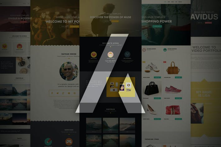 Thumbnail for Avidus - Multipurpose Muse Template for Creatives