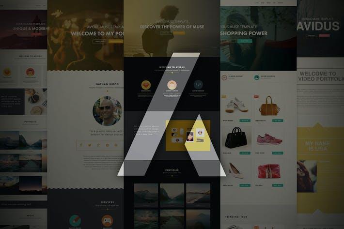 Thumbnail for Avidus - Многоцелевой Шаблон музы для креативов
