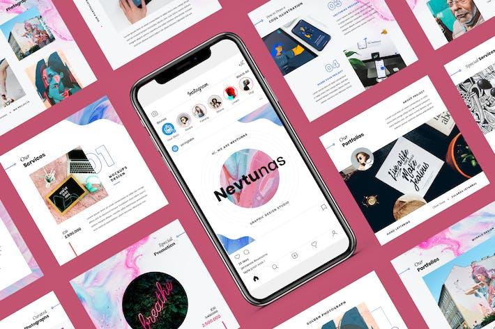 Thumbnail for Невтунас - Instagram Google Слайды Шаблон