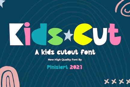 Kids Cut - cutout kids font