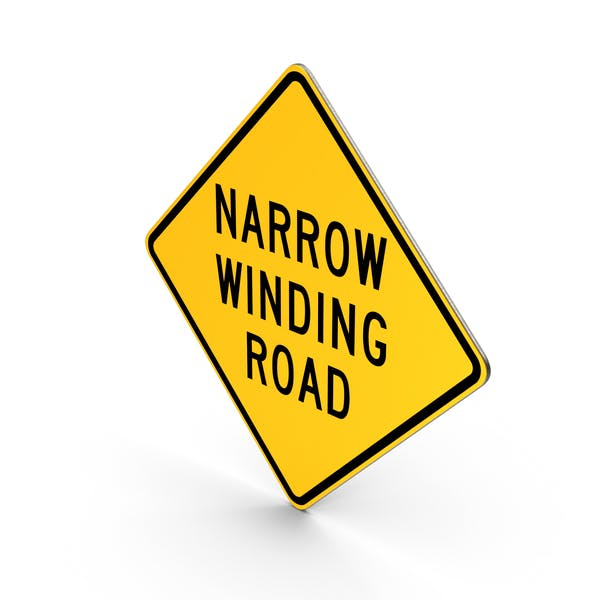 Cover Image for Narrow Winding Road Sign