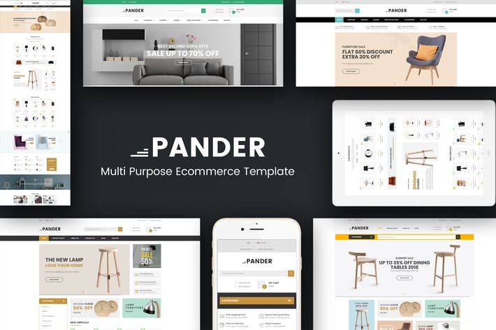 Thumbnail for Pander - Furniture Responsive OpenCart Theme